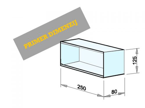 INSTALACIJSKI PREDAL Dimenzije: 250 x 125 x 80 mm