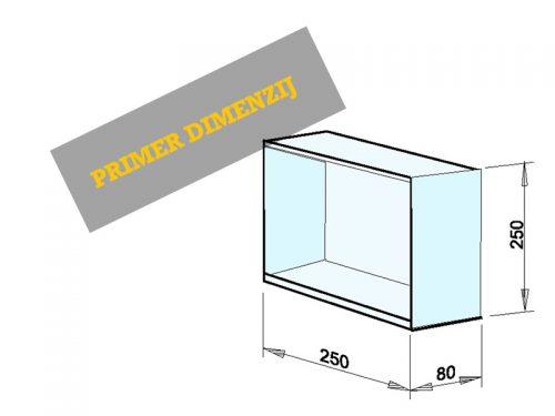 INSTALACIJSKI PREDAL Dimenzije: 250 x 250 x 80 mm