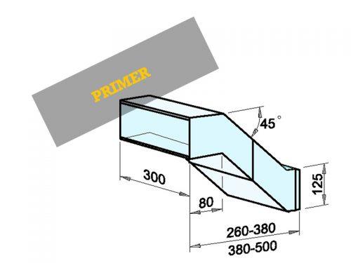 NABIRALNIK Dimenzije: 300 x 125 x 260-380/500 mm