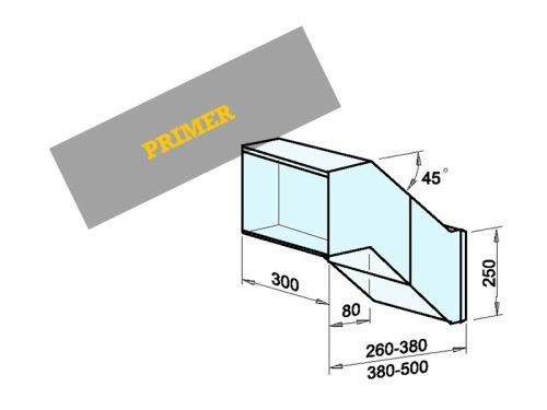 NABIRALNIK Dimenzije: 300 x 250 x 260-380/500 mm