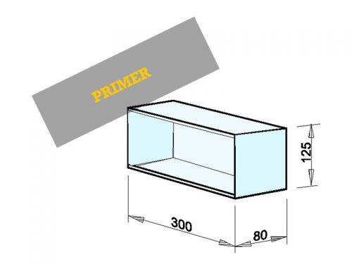 INSTALACIJSKI PREDAL Dimenzije: 300 x 125 x 80 mm