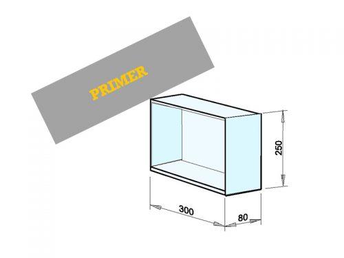 INSTALACIJSKI PREDAL Dimenzije: 300 x 250 x 80 mm