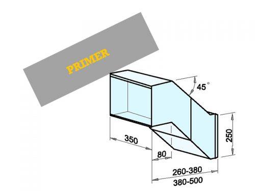 NABIRALNIK Dimenzije: 350 x 250 x 260-380/500 mm