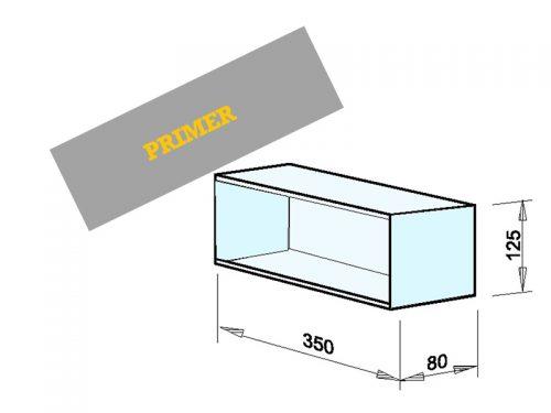 INSTALACIJSKI PREDAL Dimenzije: 350 x 125 x 80 mm