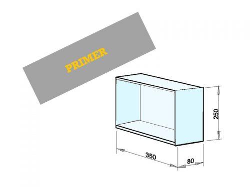 INSTALACIJSKI PREDAL Dimenzije: 350 x 250 x 80 mm