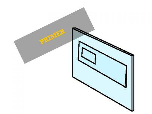 SPREDNJA ALU PLŠČA 3mm Dimenzije: Pokrov za pošto 330 x 35 mm