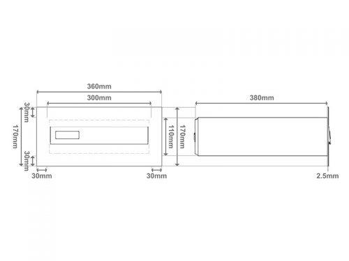 Model 02-700 – Poštni nabiralnik za vrata SKICA 1
