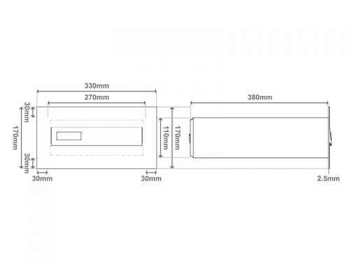 Model 02-700 – Poštni nabiralnik za vrata SKICA 2