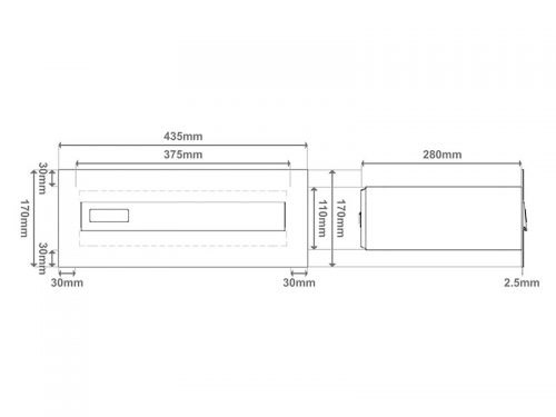 Model 02-700 – Poštni nabiralnik za vrata SKICA 3