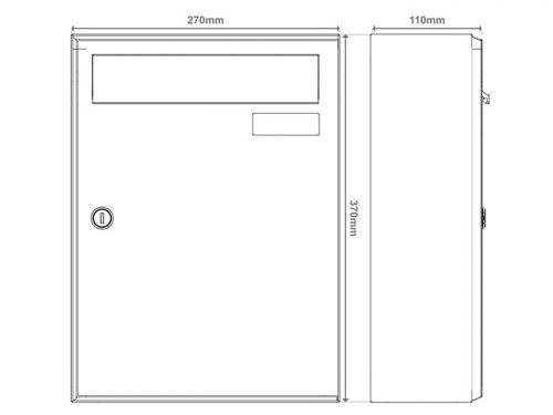 Poštni nabiralnik – Model 04-400 14
