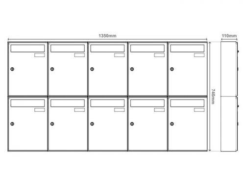 Poštni nabiralnik – Model 04-400 7