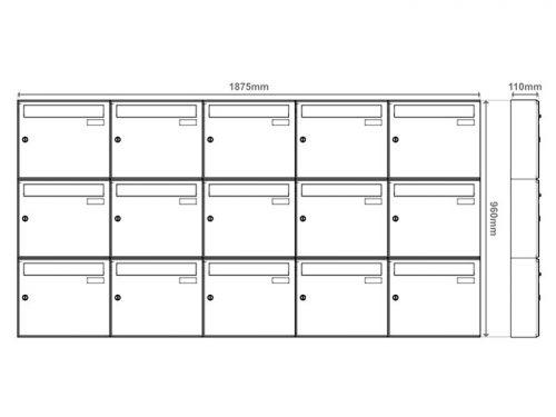 Poštni nabiralnik – Model 04-600 7