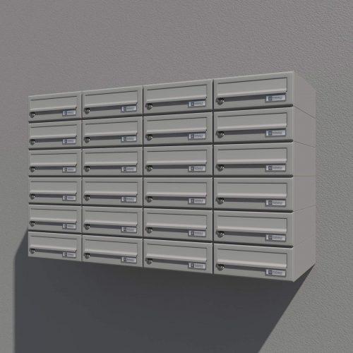 Stenski poštni nabiralnik - Model 08-200 Siva