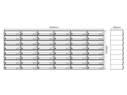 Stenski-poštni-nabiralnik—Model-08-522—PRIKAZ