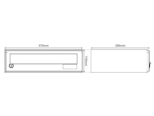 Stenski-poštni-nabiralnik—Model-08-522—skica