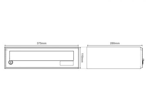 Poštni nabiralnik – Model 08-502 – 1