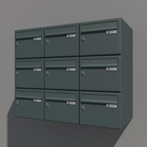 Poštni nabiralnik Model 08 212 ANTRACIT2 komplet